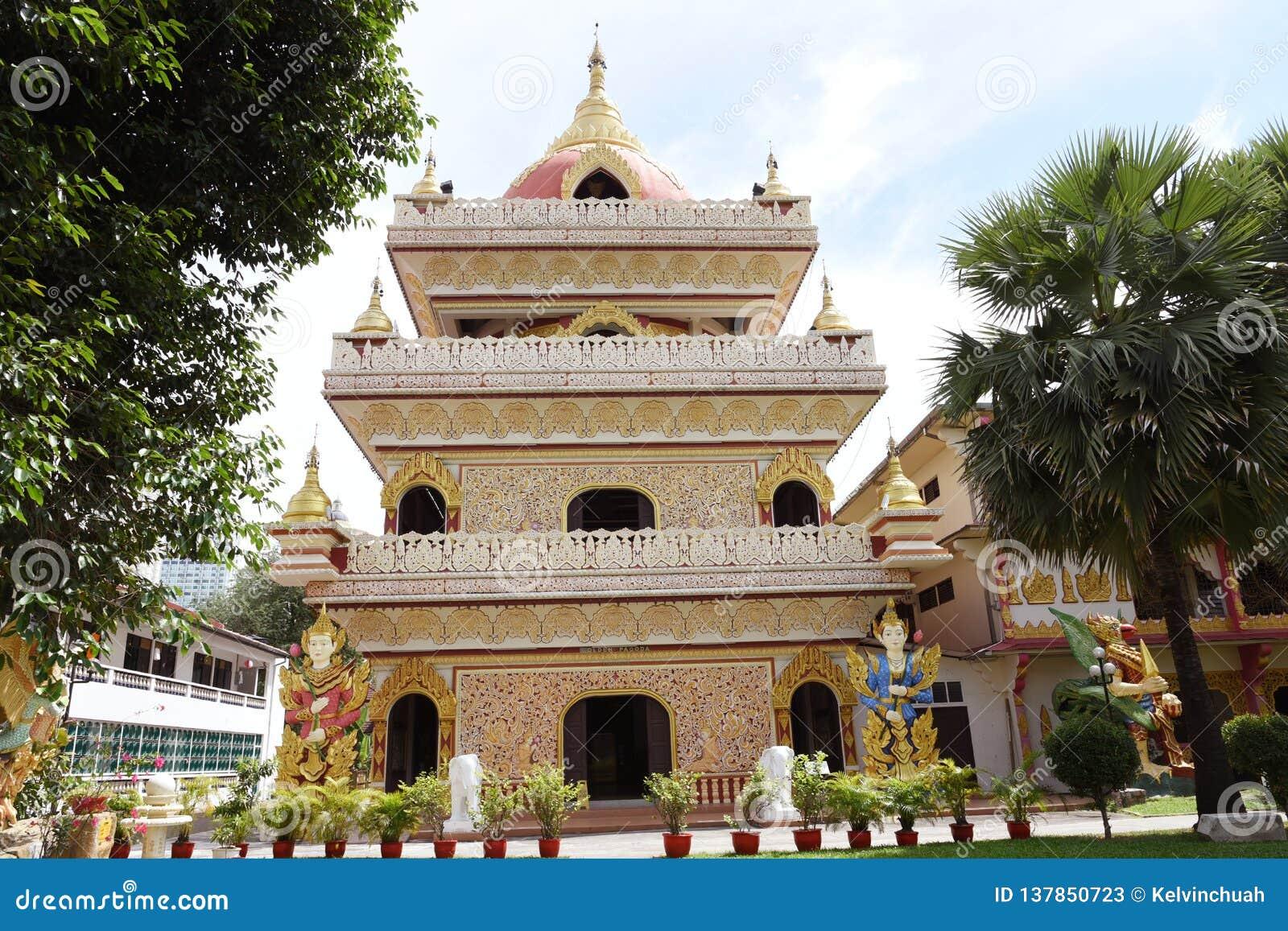Burmese Temple in Penang, Malaysia