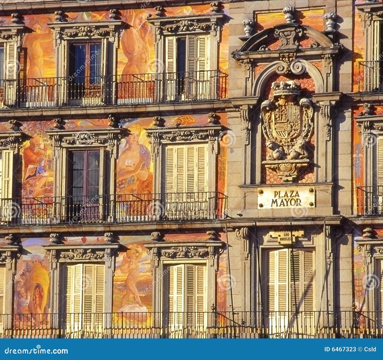 Burmistrz fasadowy malowaniu Madryt plaza