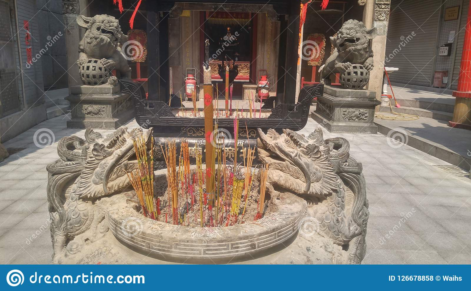 Shenzhen China Burn Incense And Worship Buddha In The Temple Editorial Stock Photo Image Of Chinese Temple 126678858