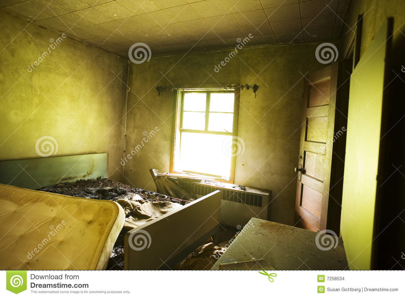 Burned Bed Stock Images