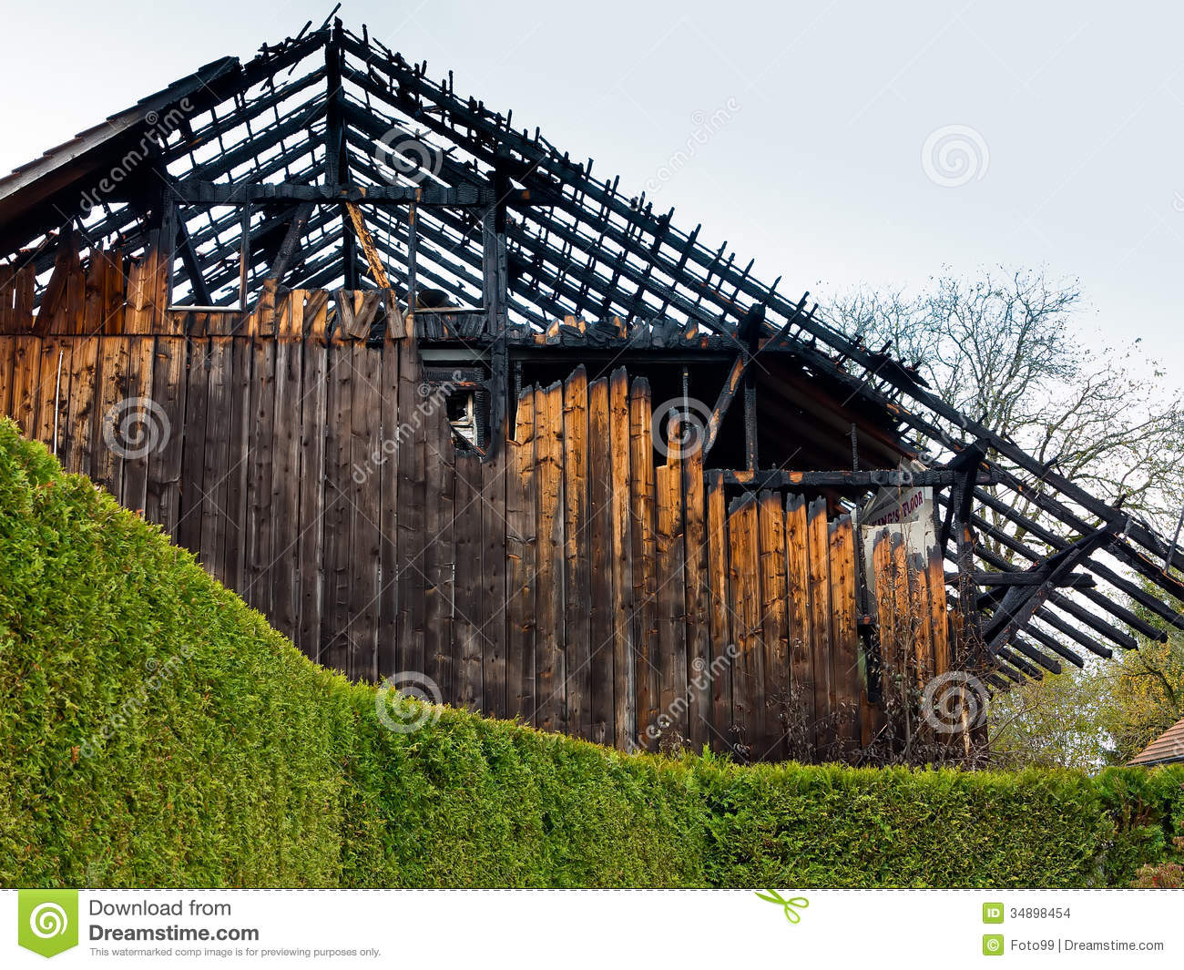 Burned Out Barn