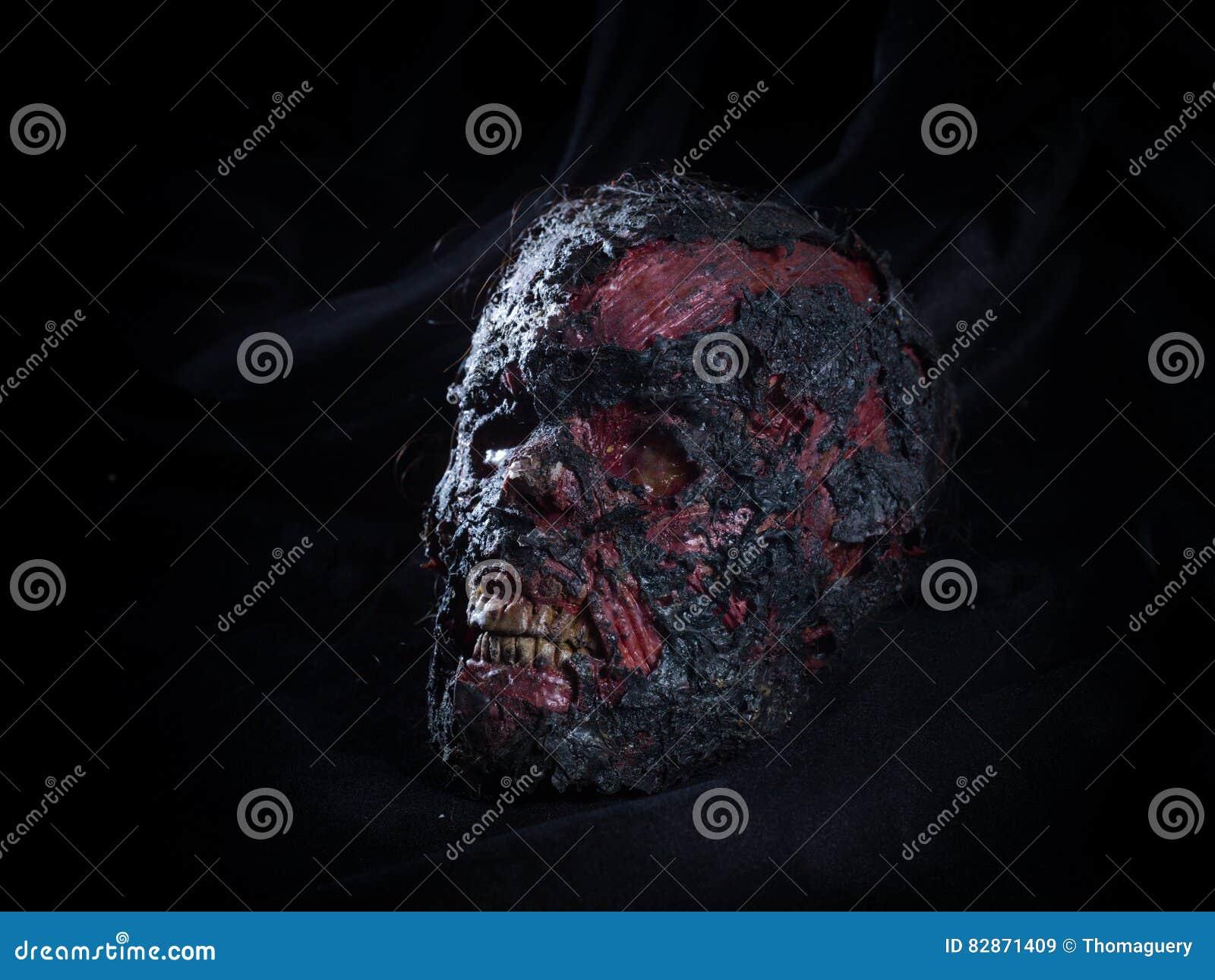 Burned skull