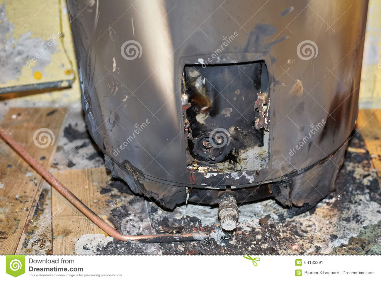 burned water heater stock image image of electric pipe. Black Bedroom Furniture Sets. Home Design Ideas