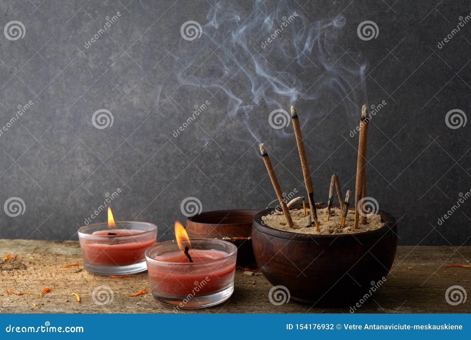Burning Aromatic Incense Sticks  Incense For Praying Buddha