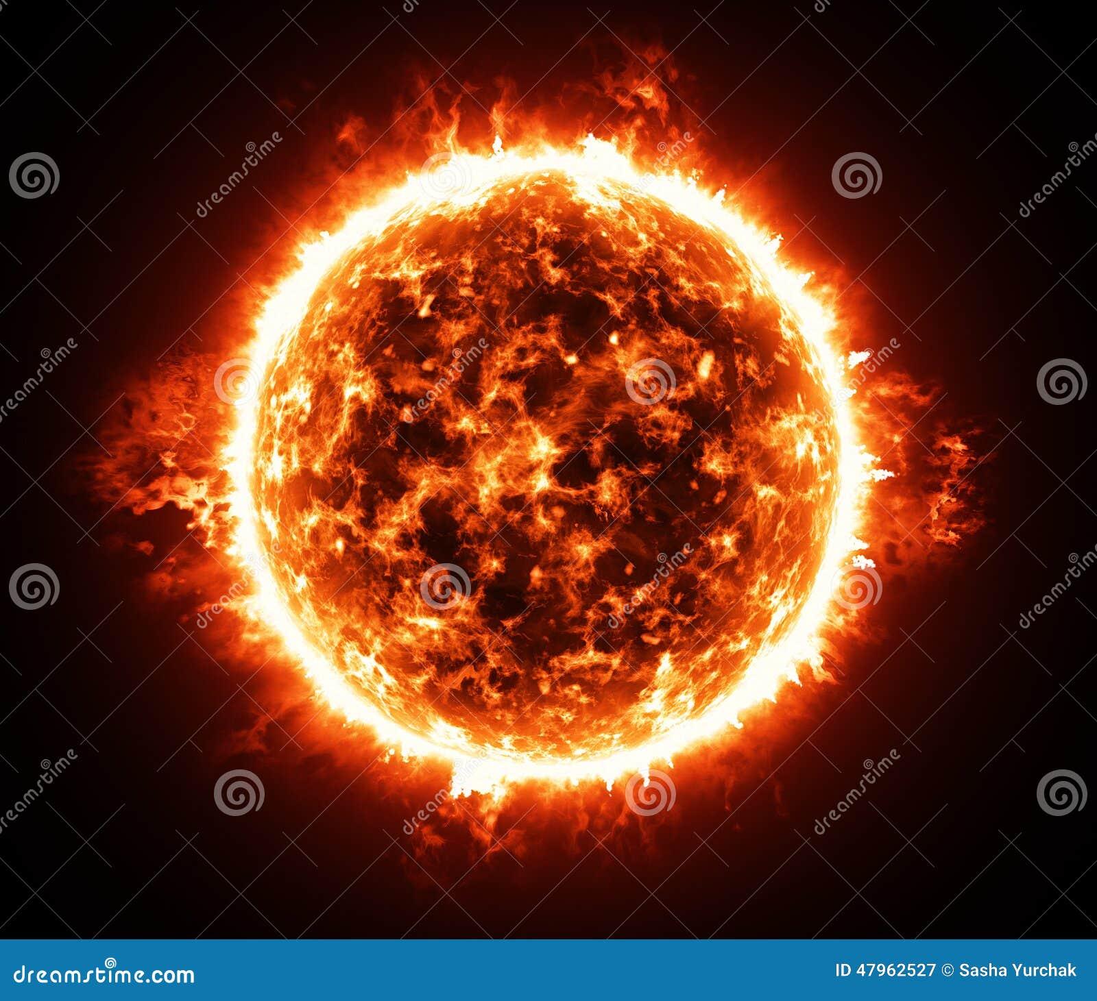 Burning Atmosphere Of Red Giant Star Stock Illustration ...