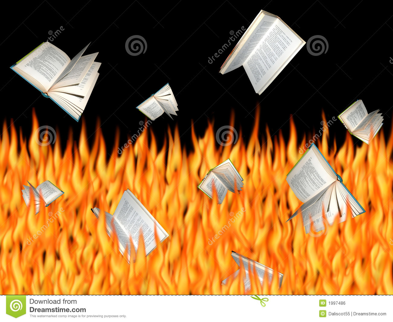 burning books stock photo  image of falling  abstract