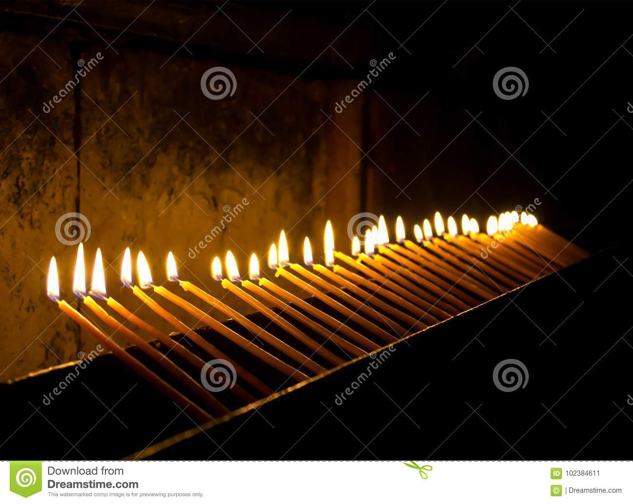 Candles are black as an attribute of white magic 63