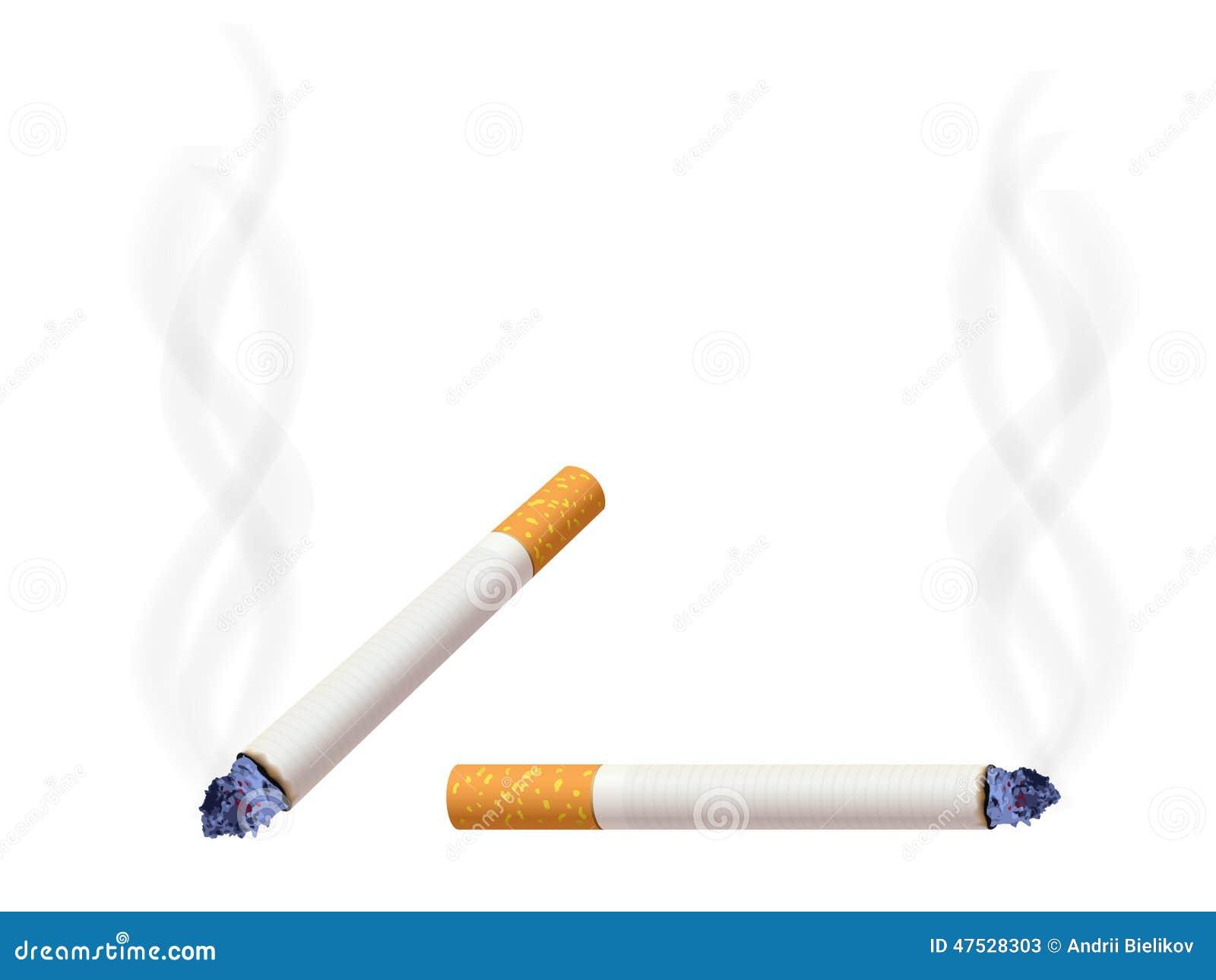 Burning cigarett