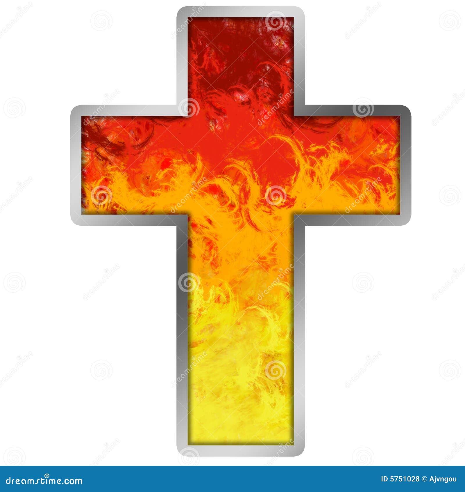 Burning Cross Royalty Free Stock Photos - Image: 5751028