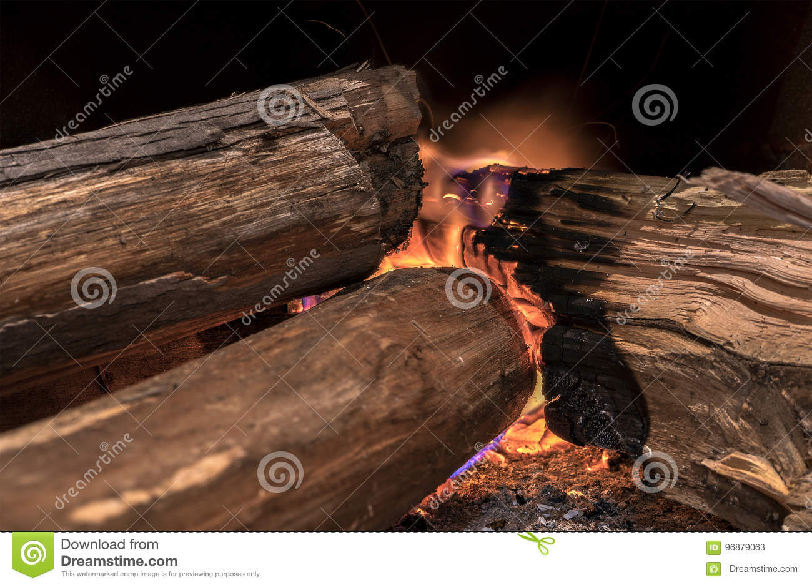 Burning de madera