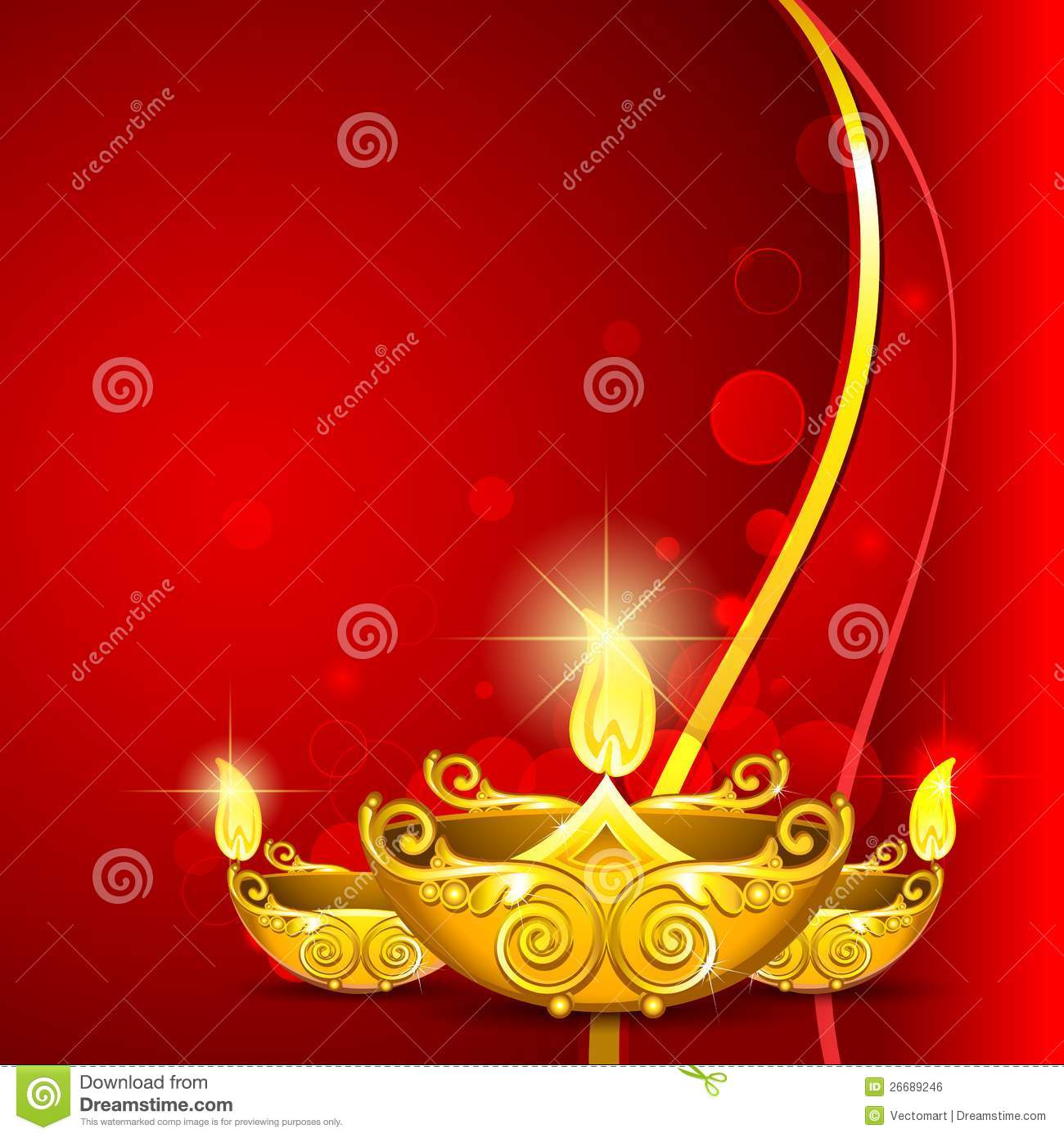Burning Diwali Diya Royalty Free Stock Image Image 26689246