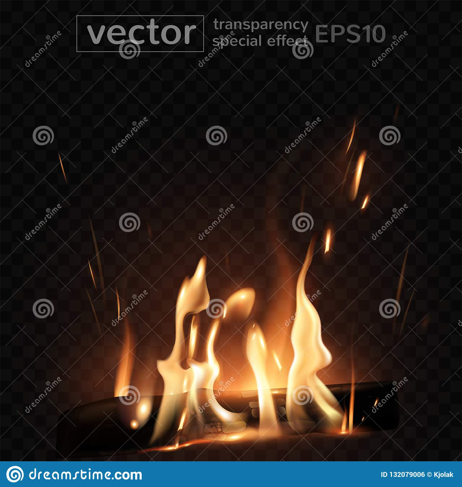 Burning Fire In The Fireplace Firewood Coals Sparks Smoke T