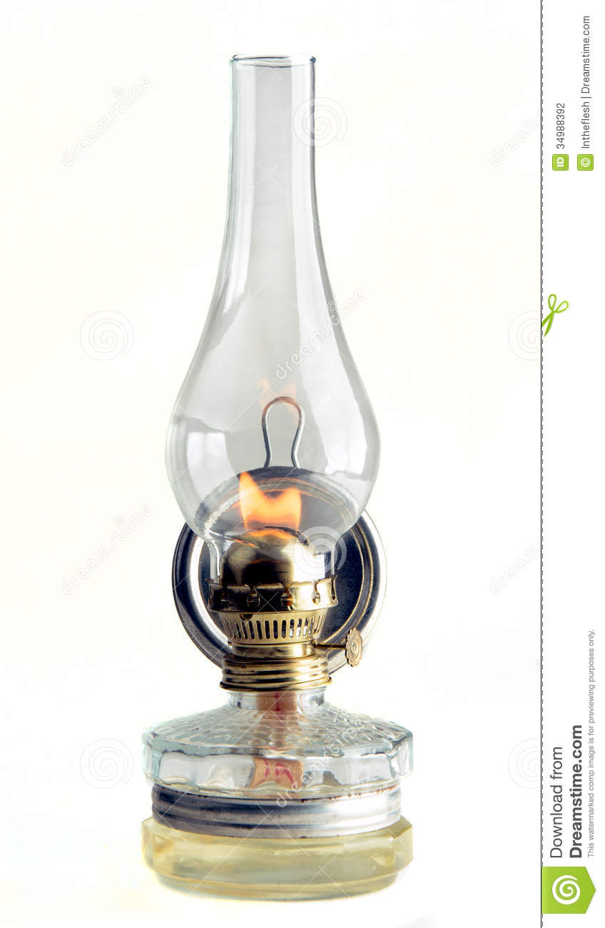 burning gas lamp isolated on white background stock photography. Black Bedroom Furniture Sets. Home Design Ideas
