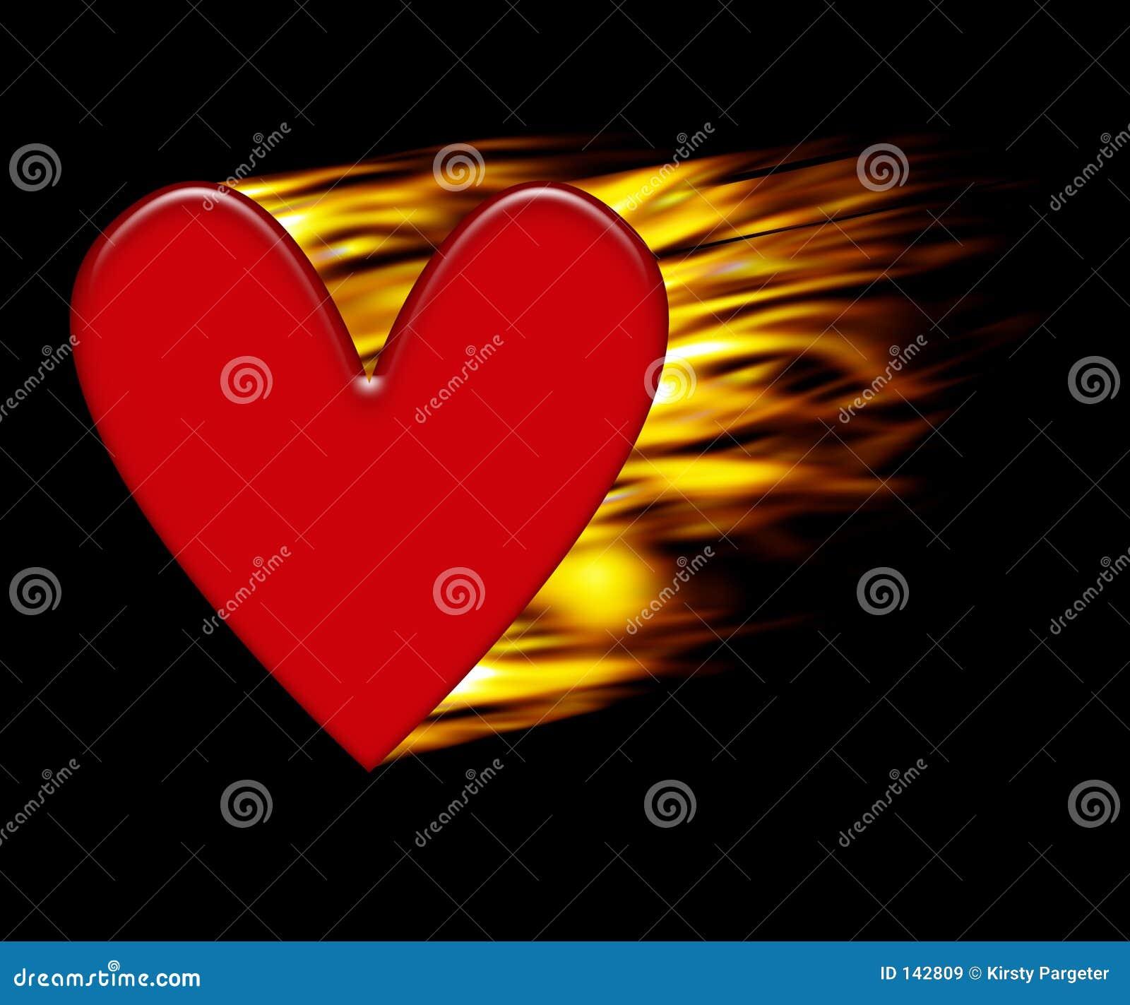 Burning hjärta