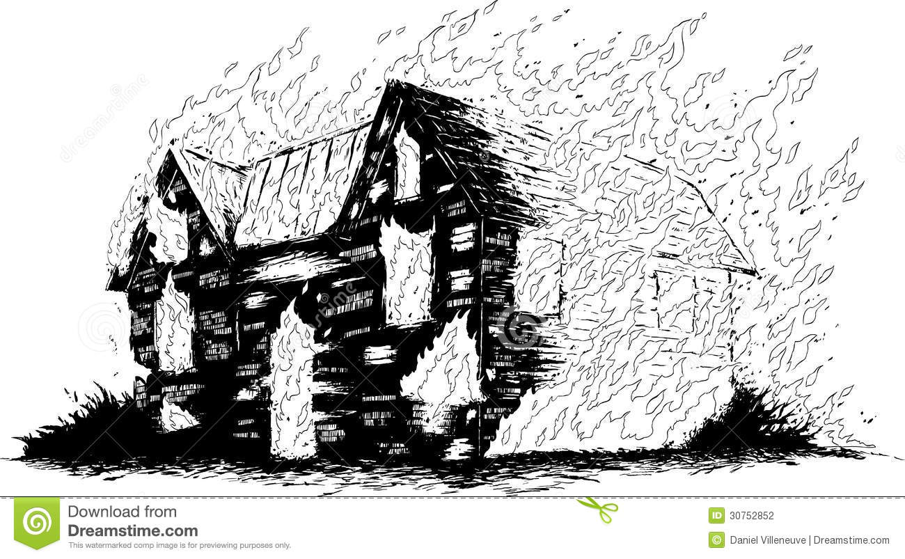 Burning house stock photography image 30752852 Draw your house