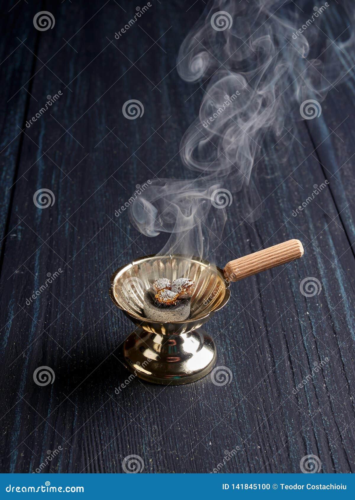Burning Incense In A Simple Censer Stock Photo Image Of Burner Biblical 141845100