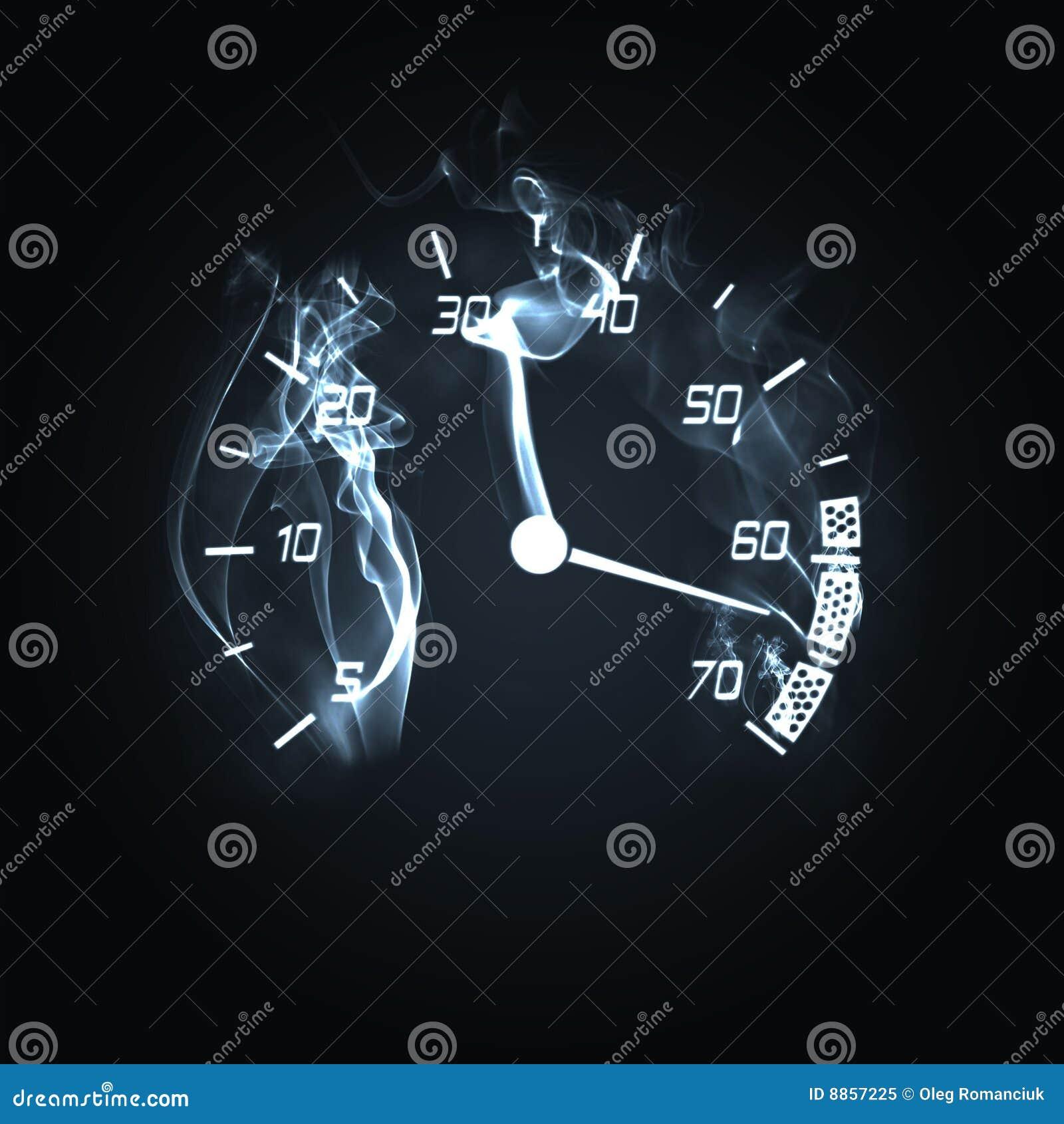 Burning Odometer Stock Illustration Illustration Of