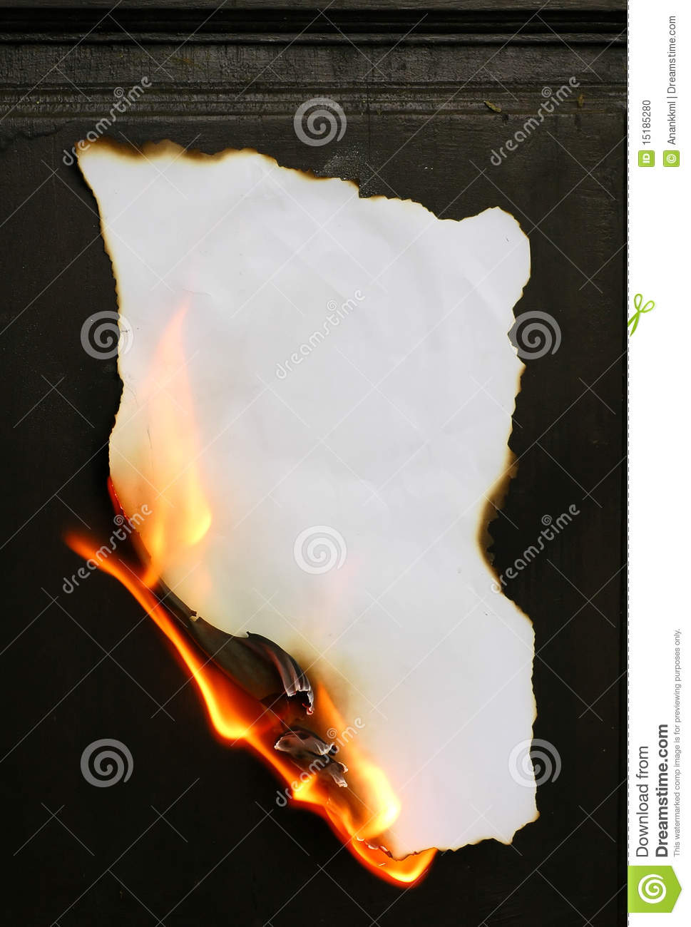 burning paper stock photo image 15185280