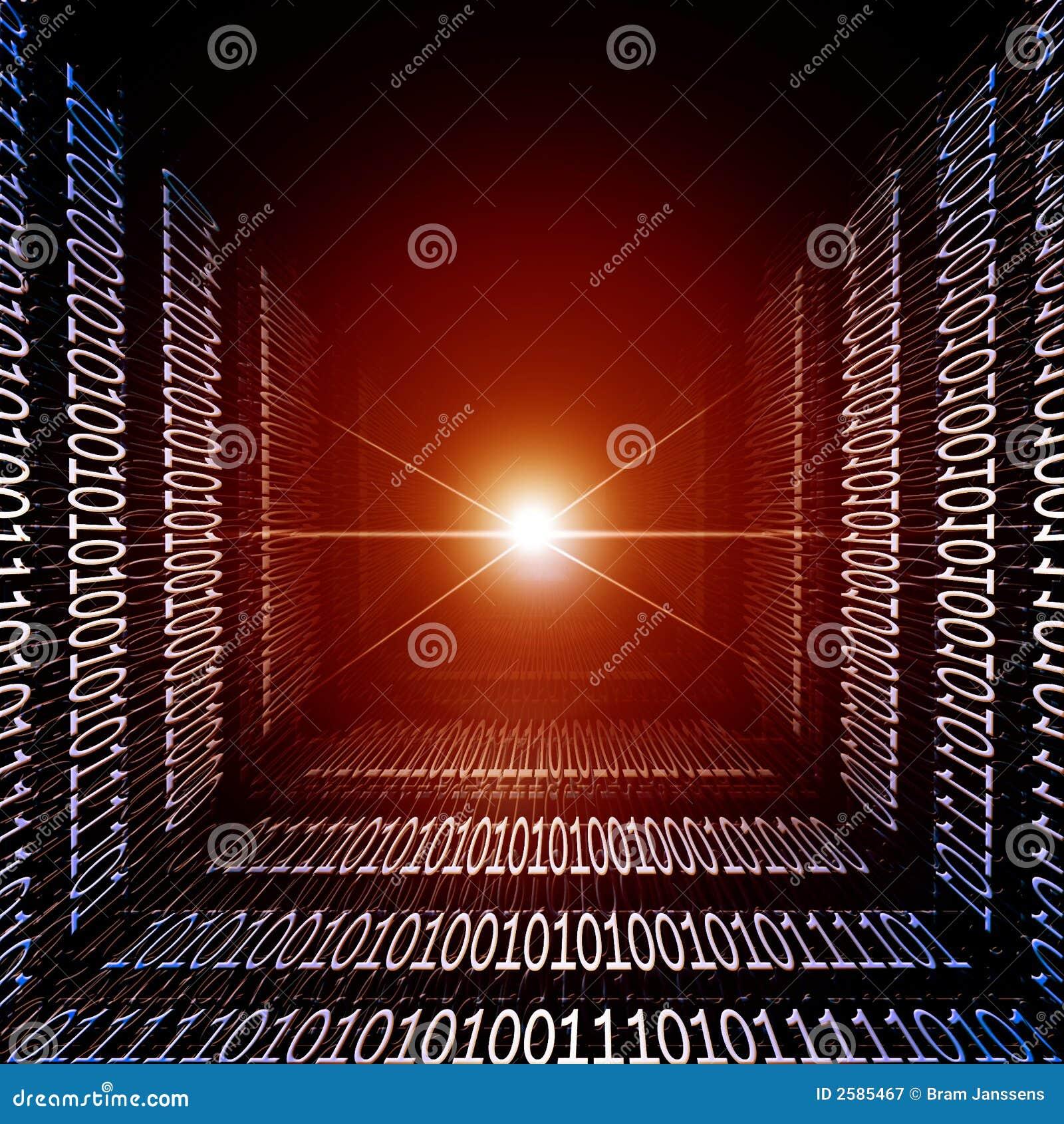 Burning red information lane