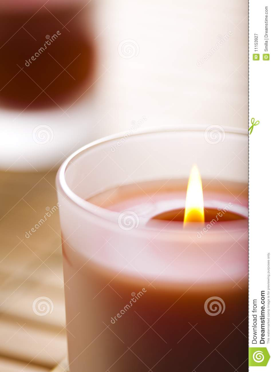 Burning scented candles royalty free stock photography for Spa smelling candles
