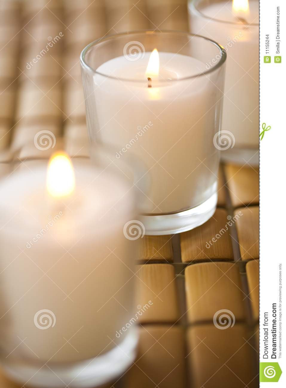 Burning scented candles stock images image 11155244 for Spa smelling candles