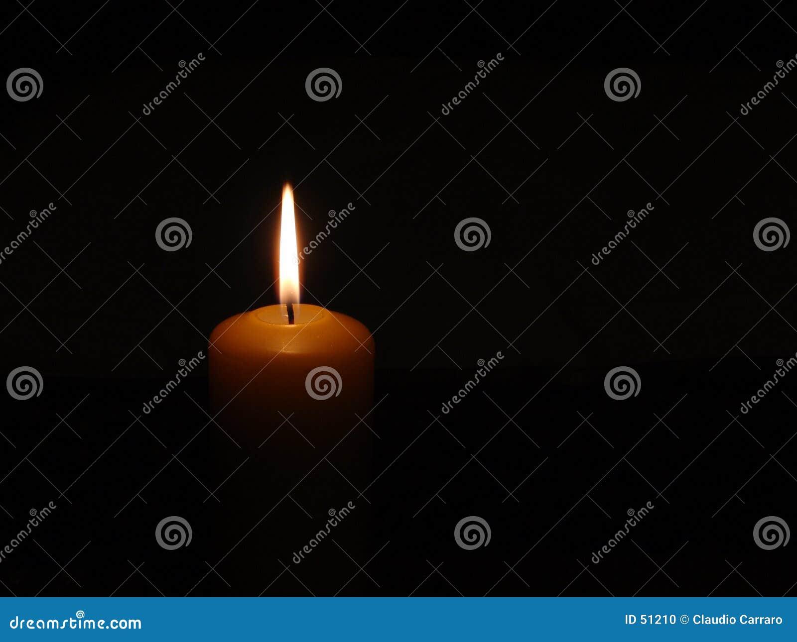 Burning stearinljus