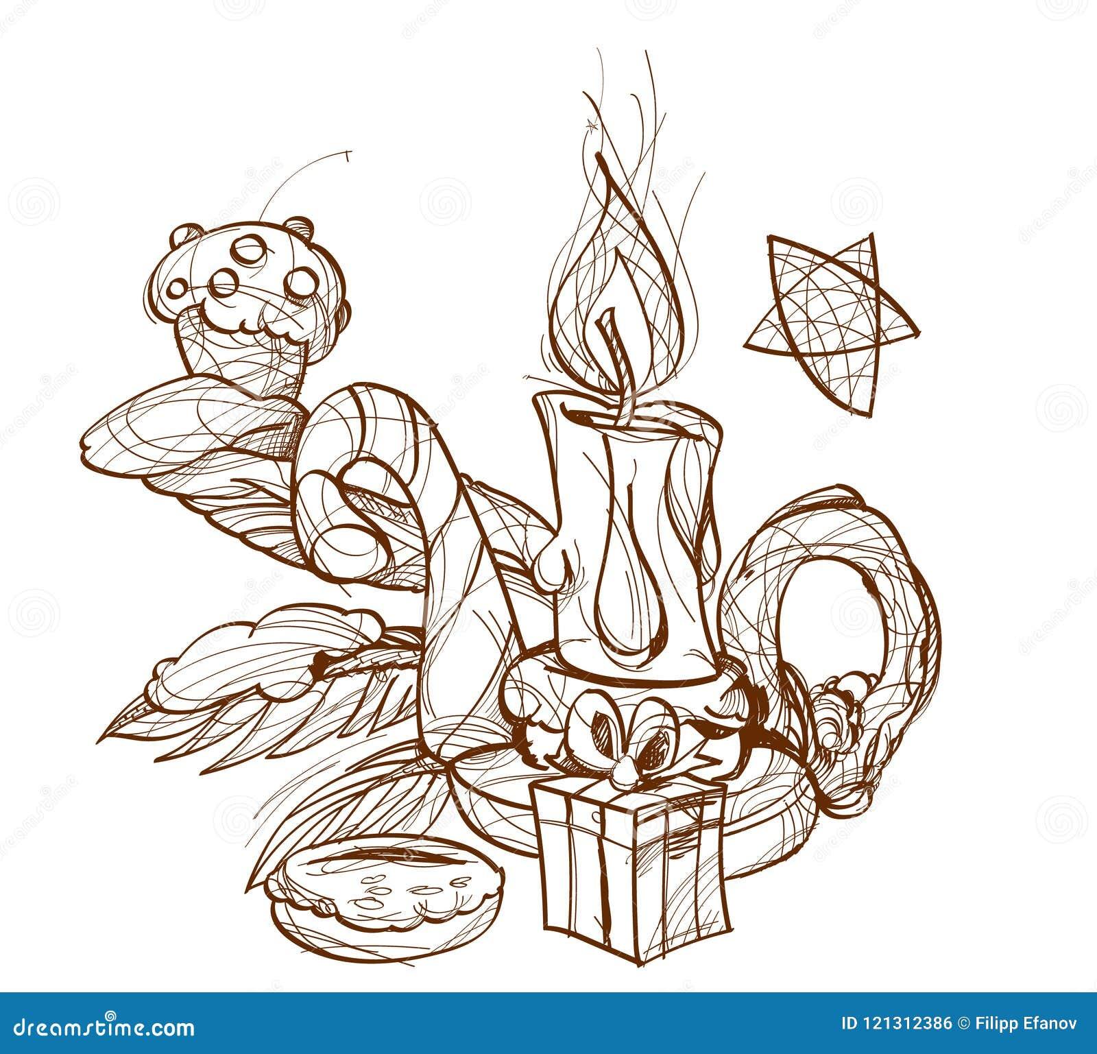 Burning stearinljusljusstake
