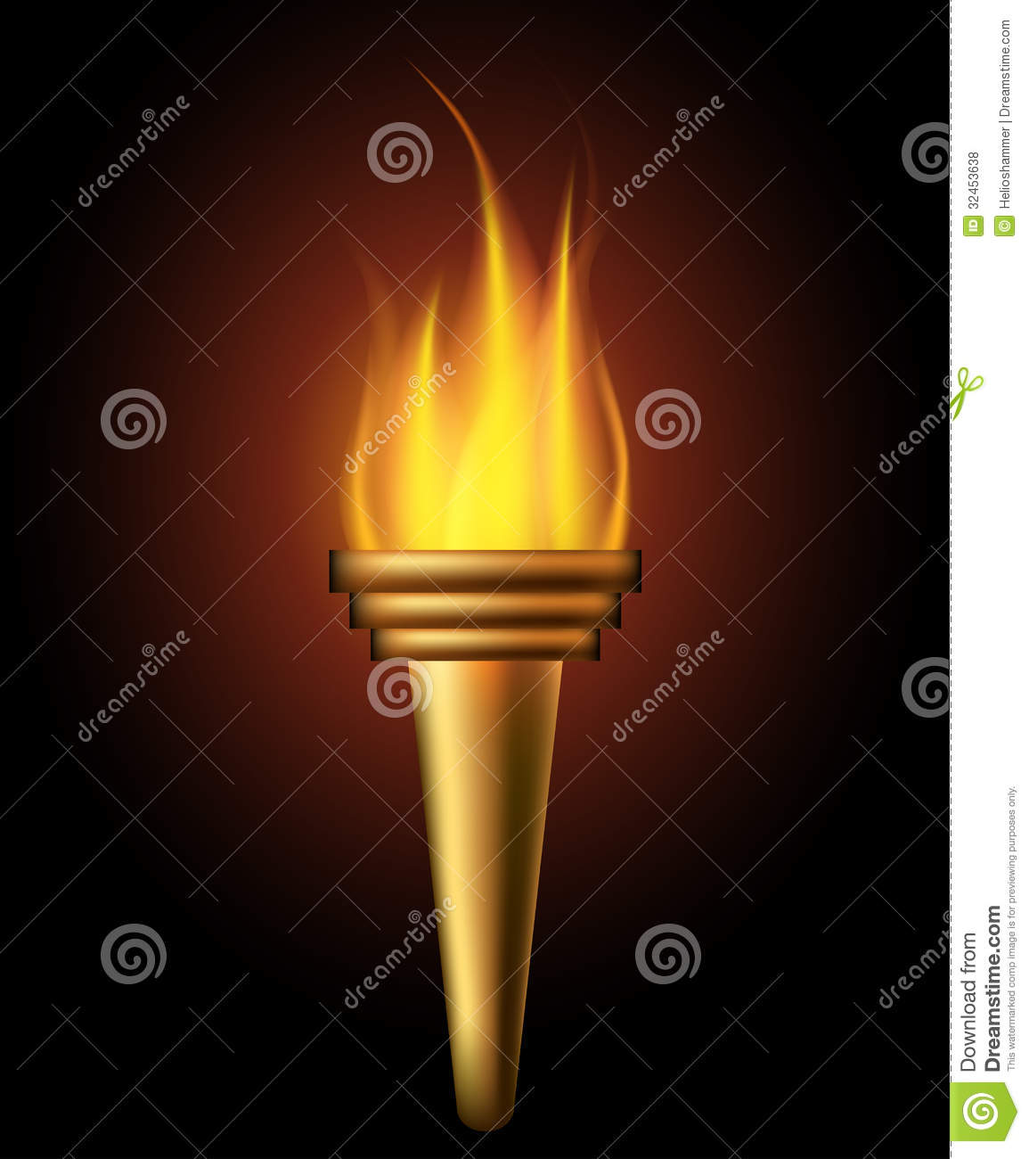 Burning Torch Royalty Free Stock Photos