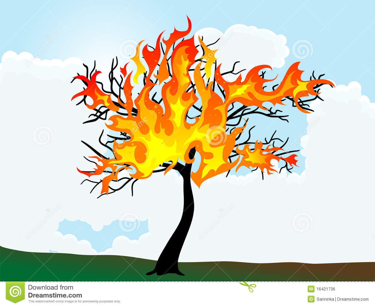 Burning tree royalty free stock image image 16421736