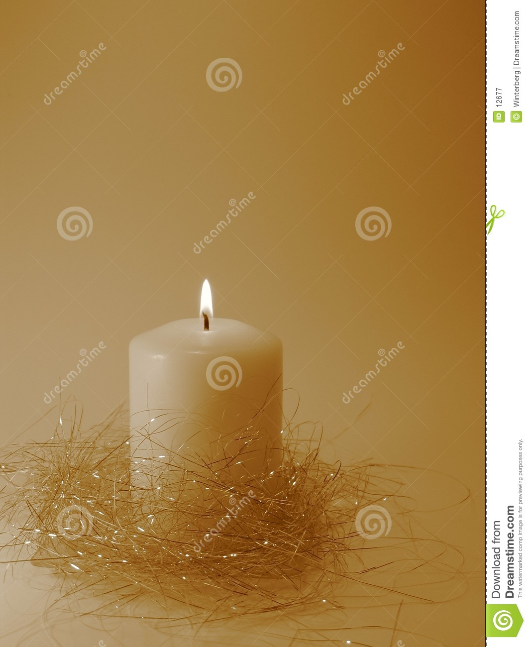 Burning White Candle