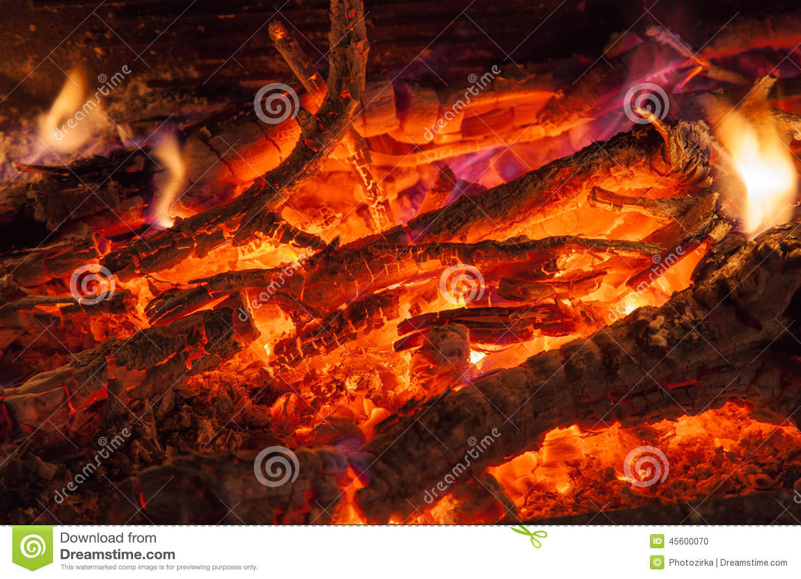 Burning Wood Stock Photo Image Of Burnt Fireside Burn