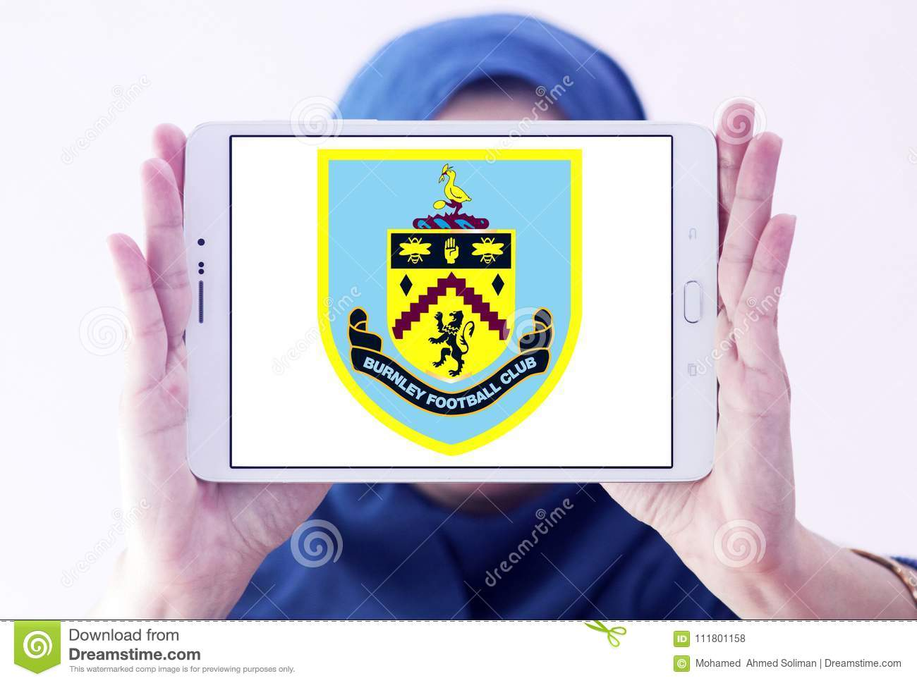 Burnley F C Fussball Verein Logo Redaktionelles Stockfoto