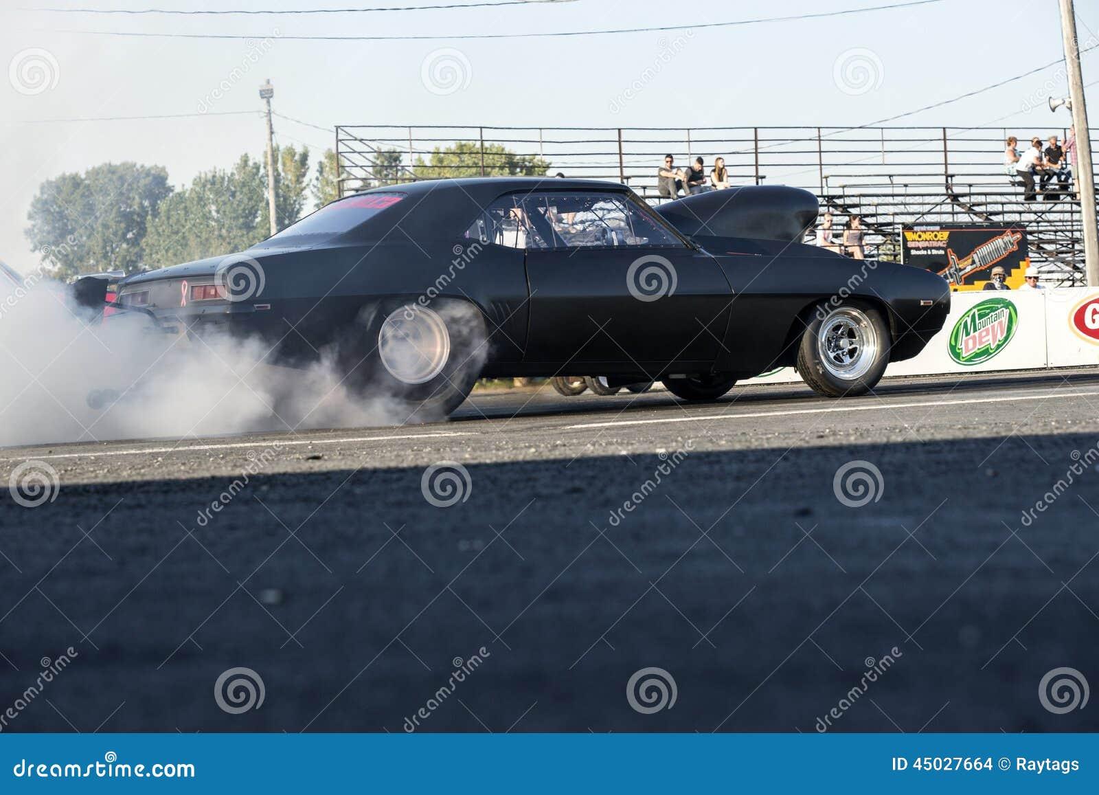Burnout di Chevrolet Camaro