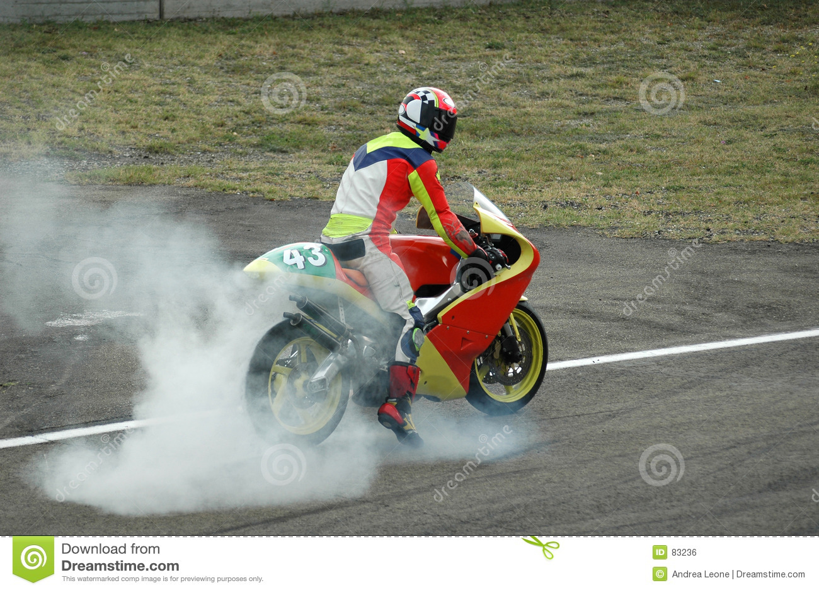 Burnout motocykla