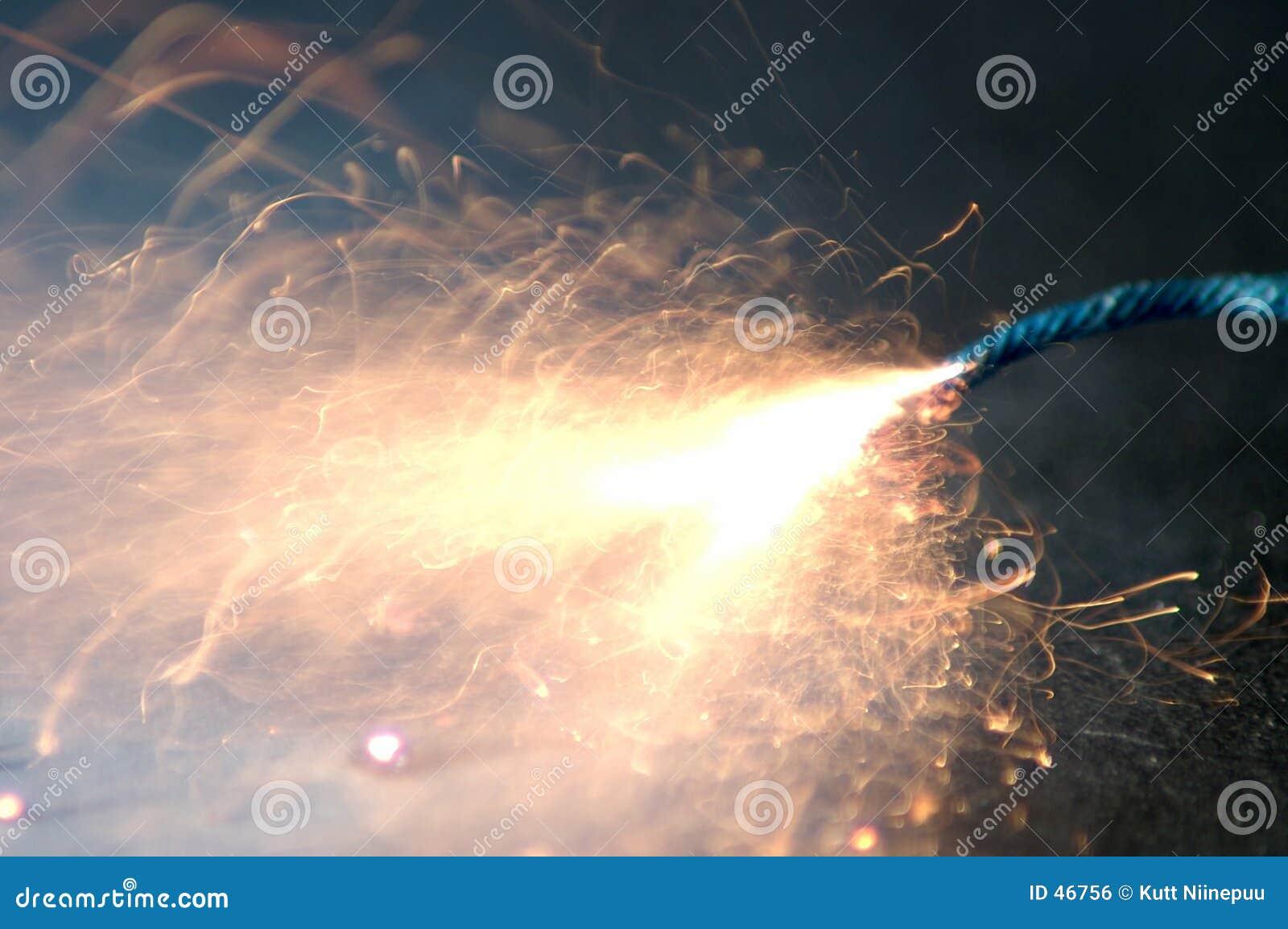 Burnout scintillante del fusibile
