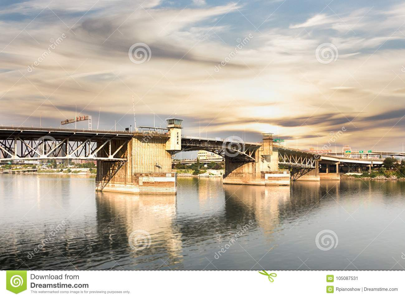 The Burnside Bridge in Portland.