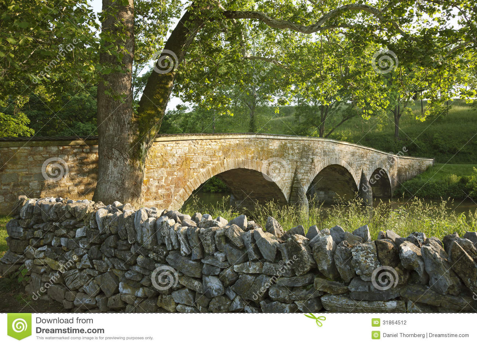 Burnsides Brücke an Schlachtfeld Antietam (Sharpsburg) in Maryla