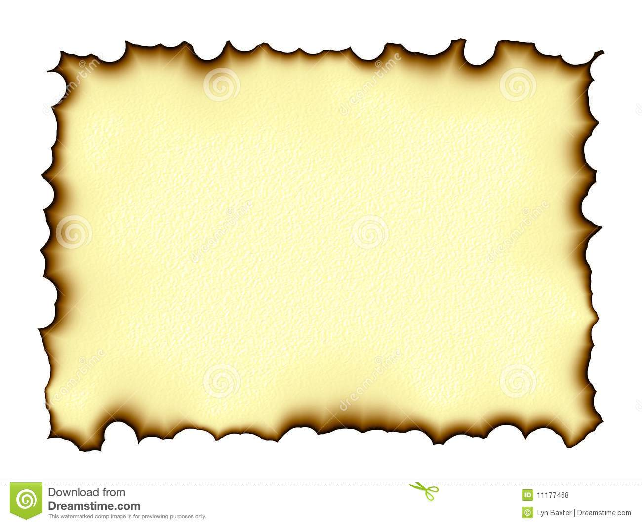 Royalty Free Stock Photos Burnt Edges Parchment Image11177468 on Blank English Sheets