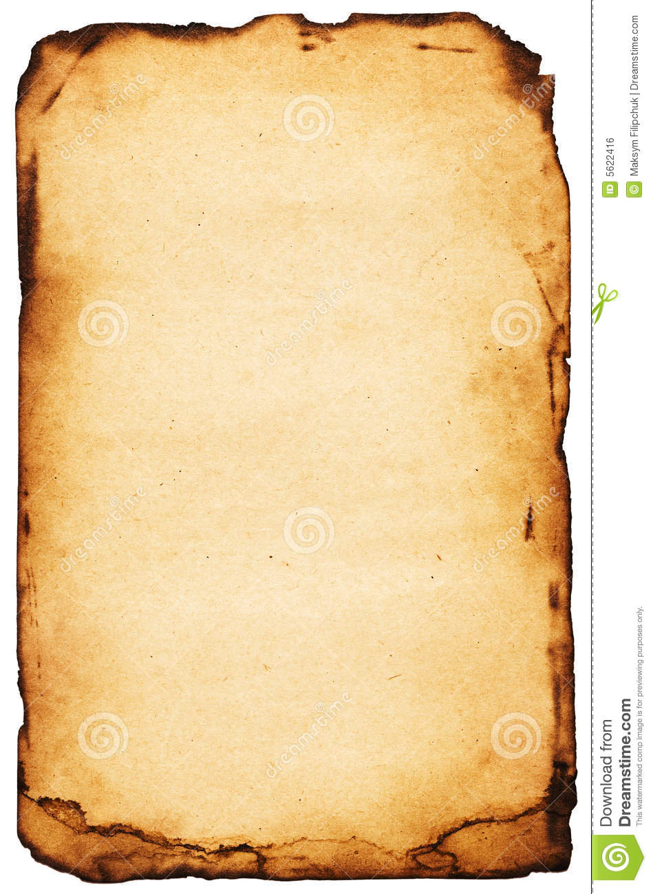burnt paper royalty free stock image
