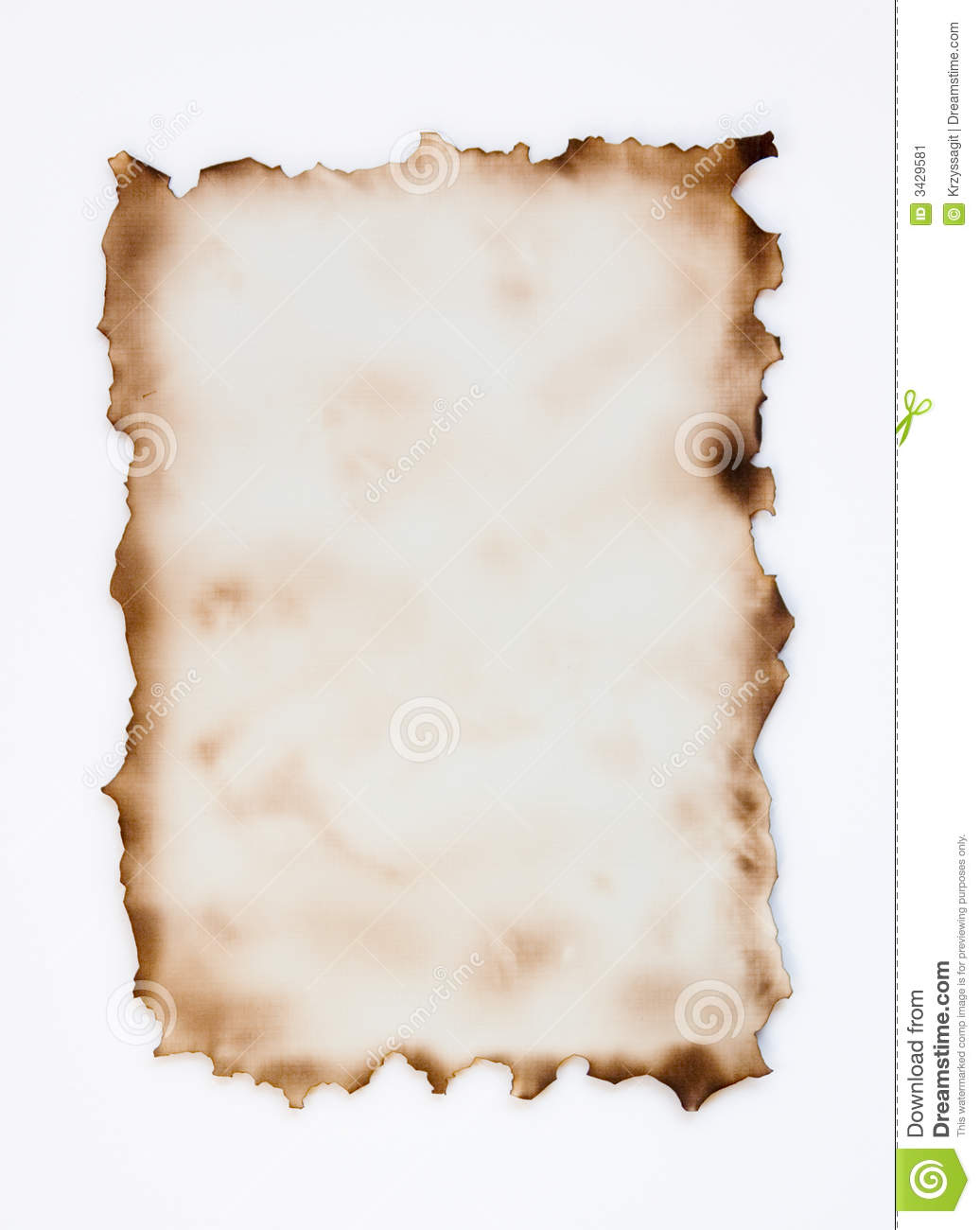 Burnt Parchment Stock Image - Image: 3429581