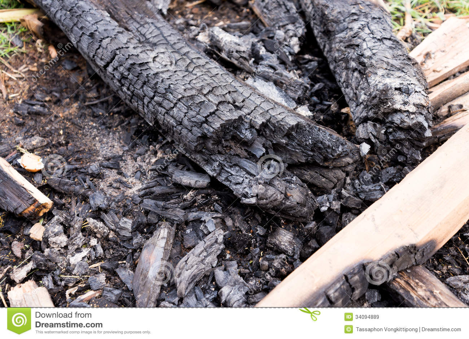 Burnt Wood Royalty Free Stock Images Image 34094889