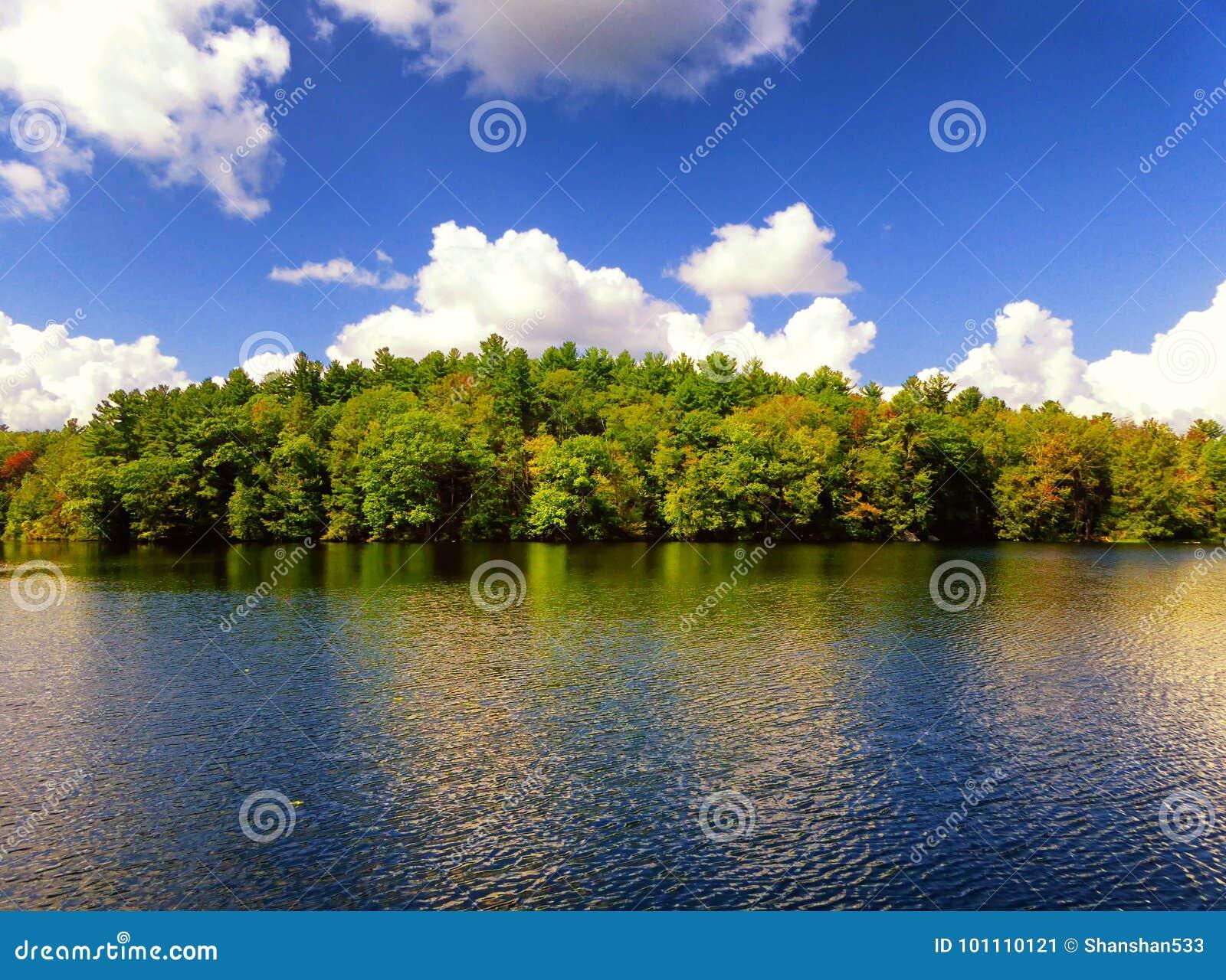 Burr Pond-Nationalpark-Herbstansicht