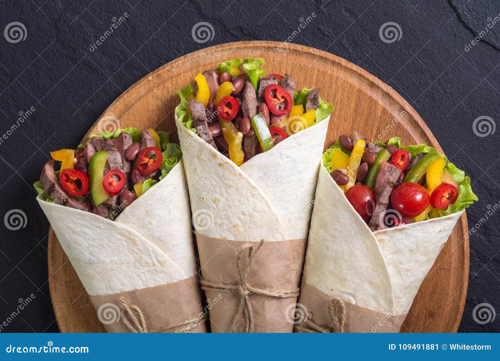 Burrito avec du boeuf