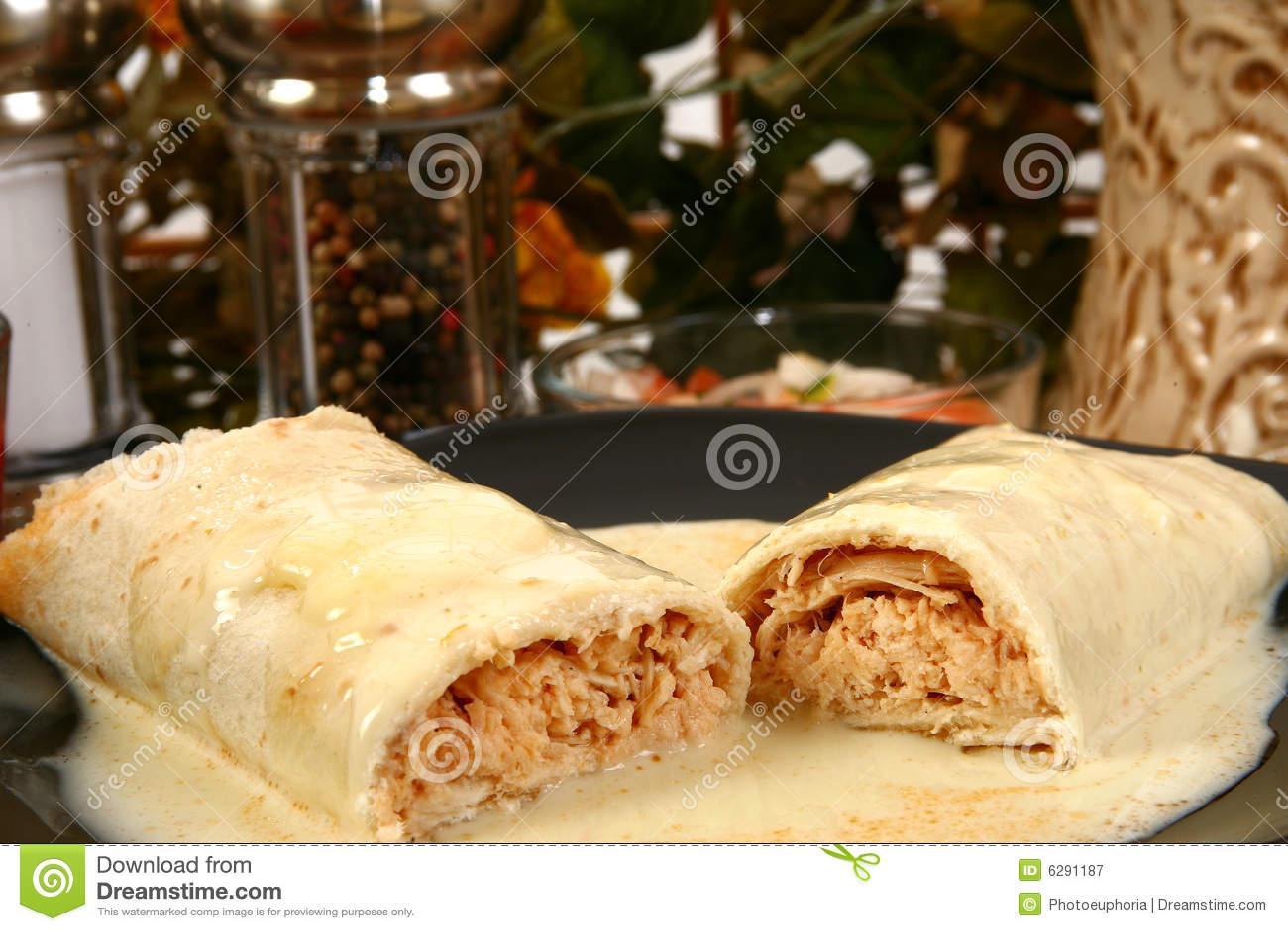 Burrito de poulet