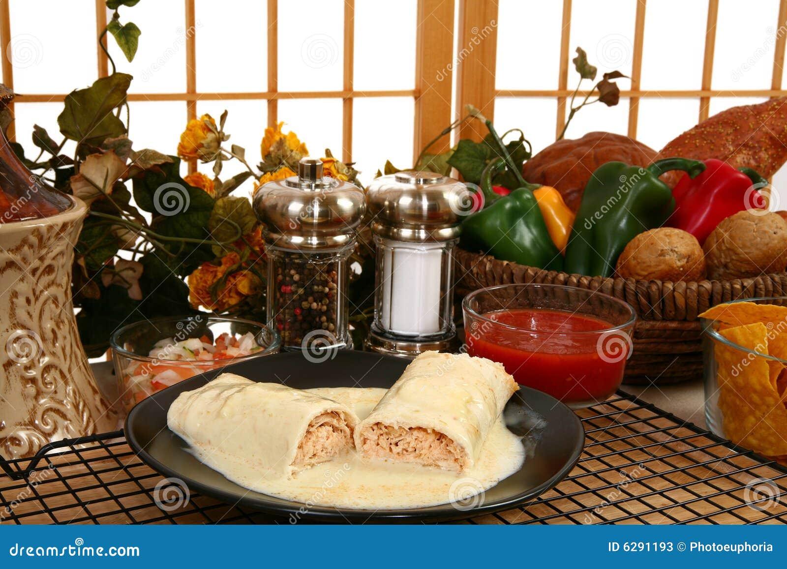 Burrito del pollo