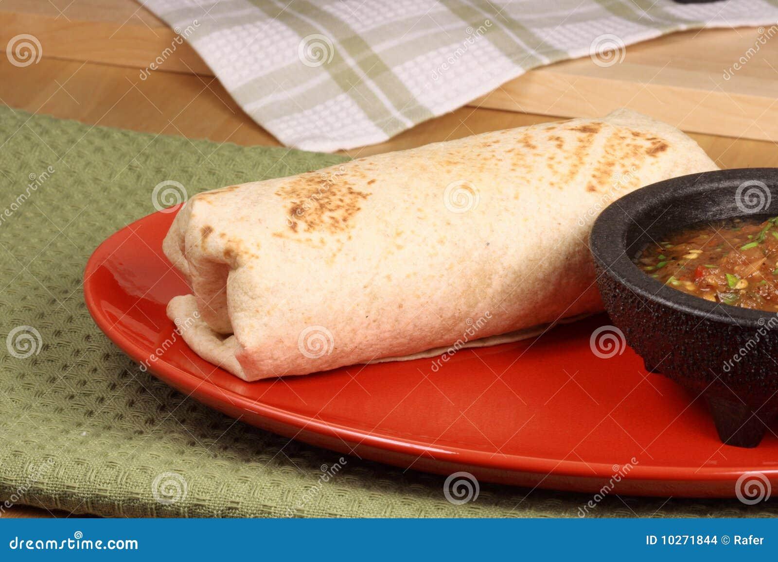 Burrito mexicano quente