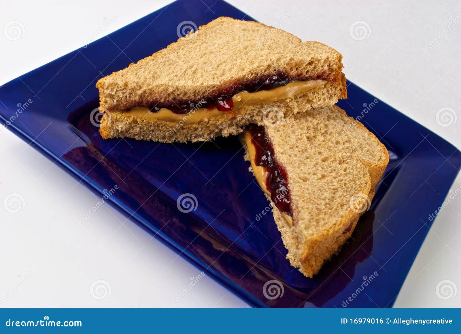 Burro di arachide e panino della gelatina