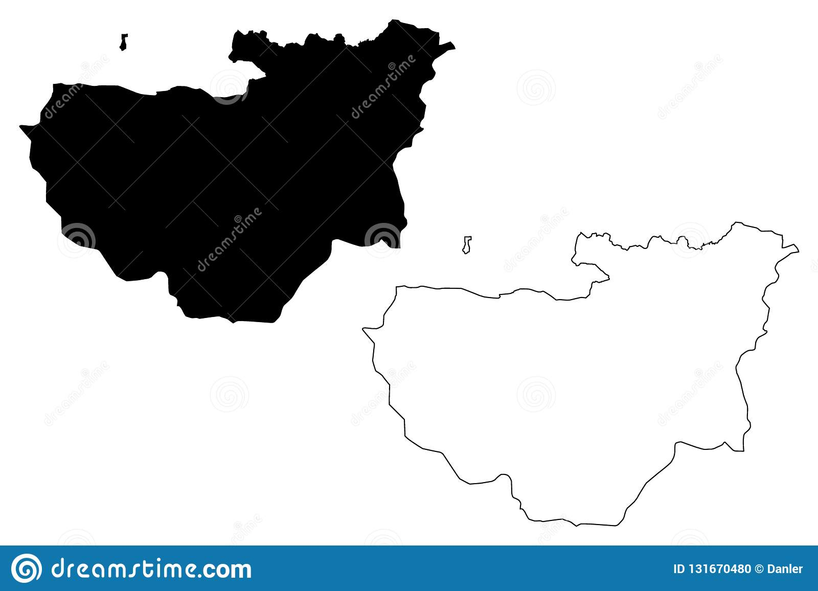 Bursa map vector stock vector. Illustration of cartography ...