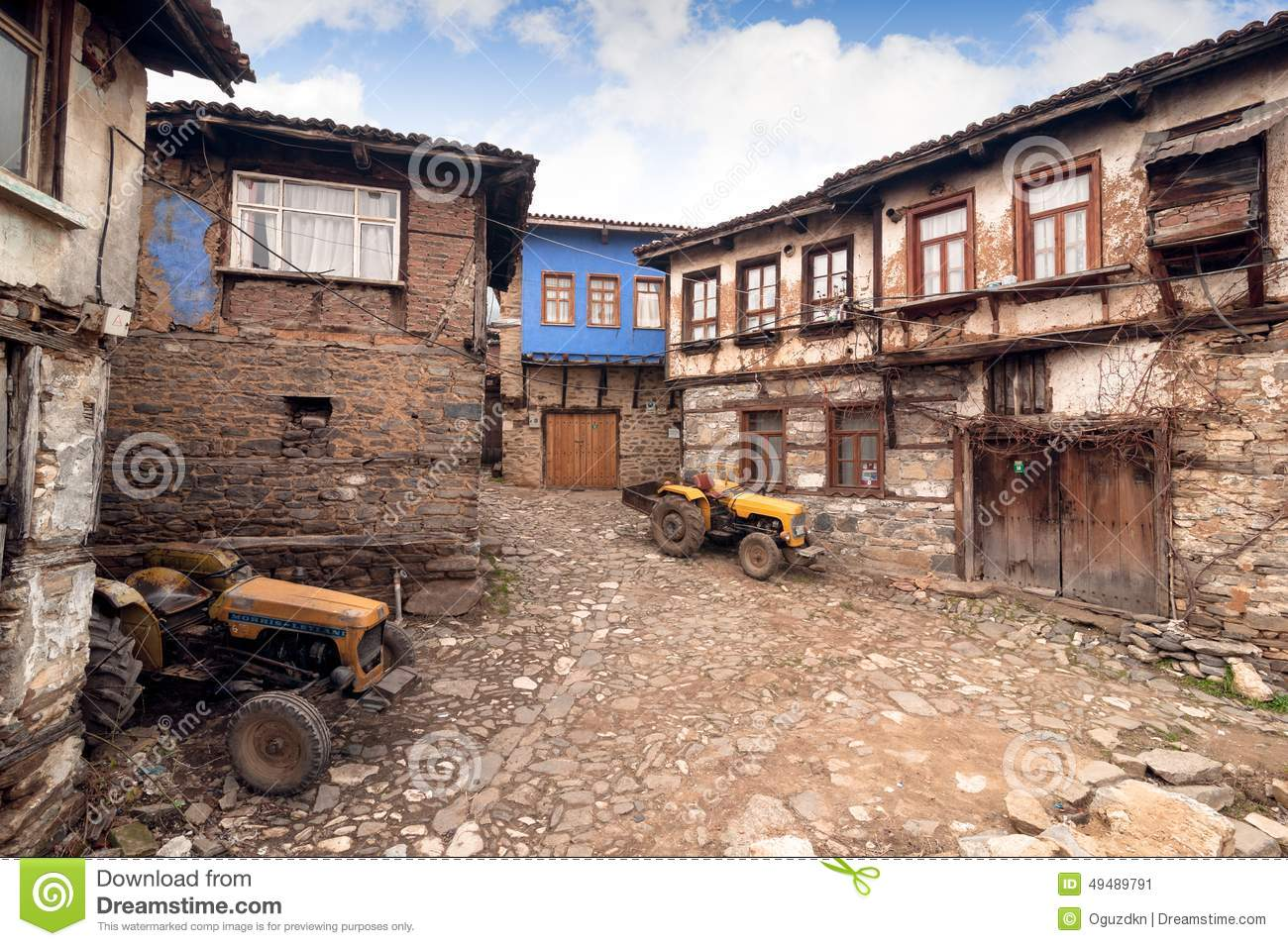 BURSA, TURKEY - JANUARY 26, 2015: a street view of 700 years old Ottoman village. The village accepted as Unesco world heritage.