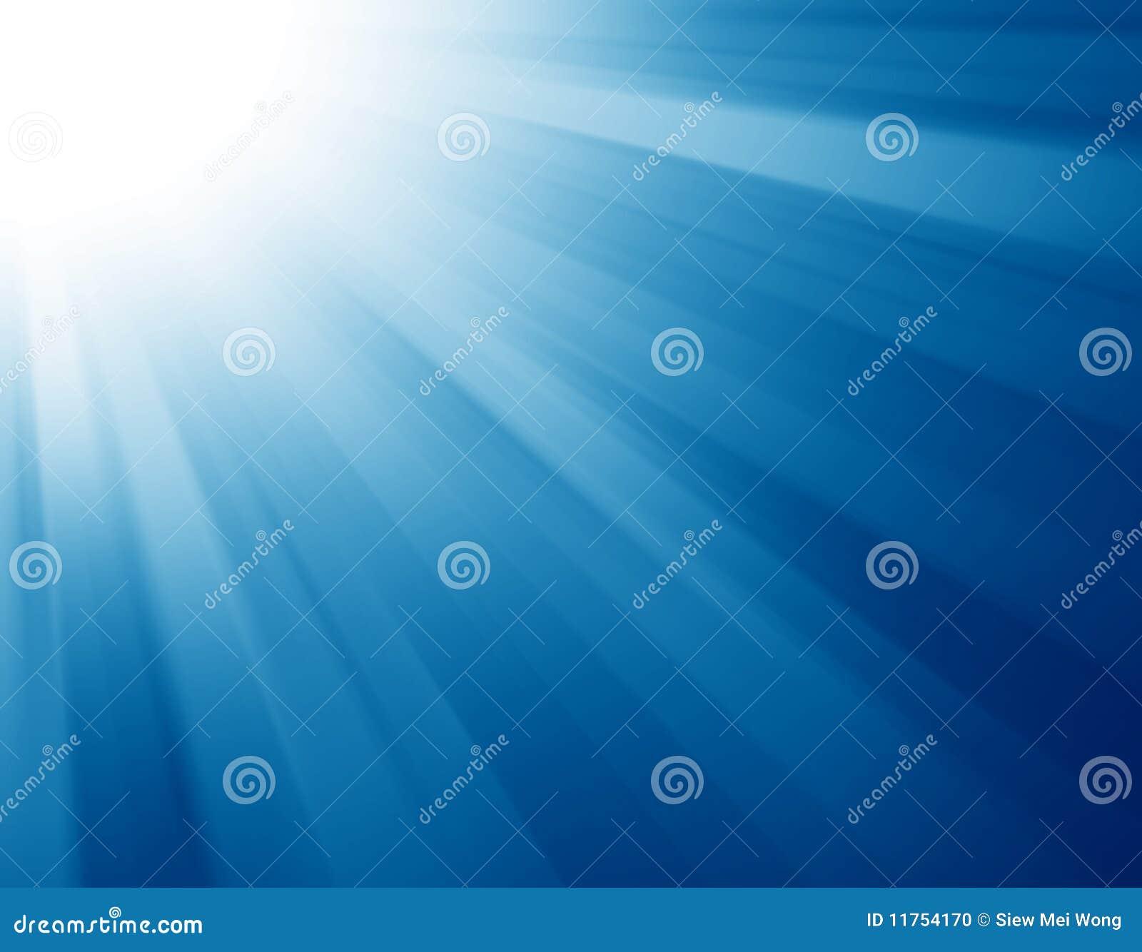 Burst blu dell indicatore luminoso